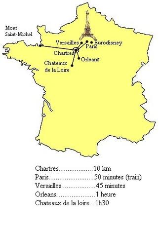 La paisible gite chartres 28 gites de france eure et for Bureau vallee dreux